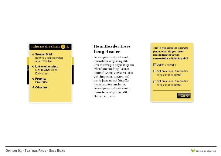 Option 01 - Textual Page - Side Boxs   DESIGN BY STRATIGO
