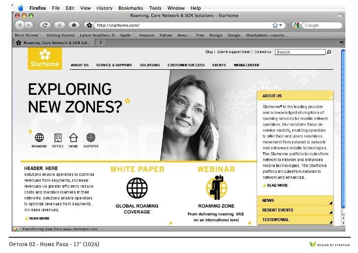 Option 02 - Home Page - 17' (1024)   DESIGN BY STRATIGO