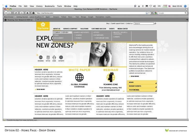 Option 02 - Home Page - Drop Down   DESIGN BY STRATIGO