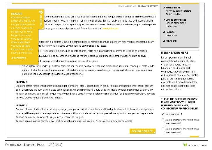 Option 02 - Textual Page - 17' (1024)   DESIGN BY STRATIGO