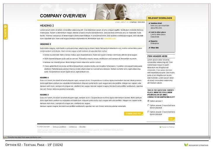 Option 02 - Textual Page - 19' (1024)   DESIGN BY STRATIGO