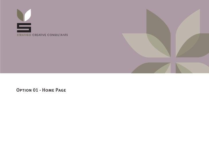 Option 01 - Home Page