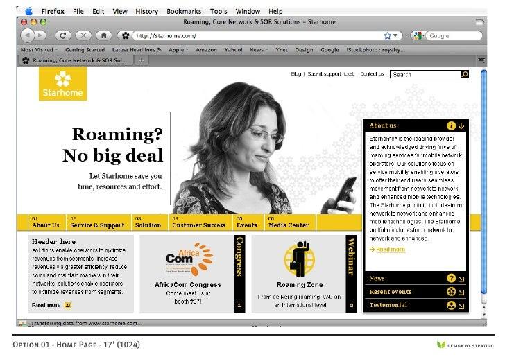 Option 01 - Home Page - 17' (1024)   DESIGN BY STRATIGO