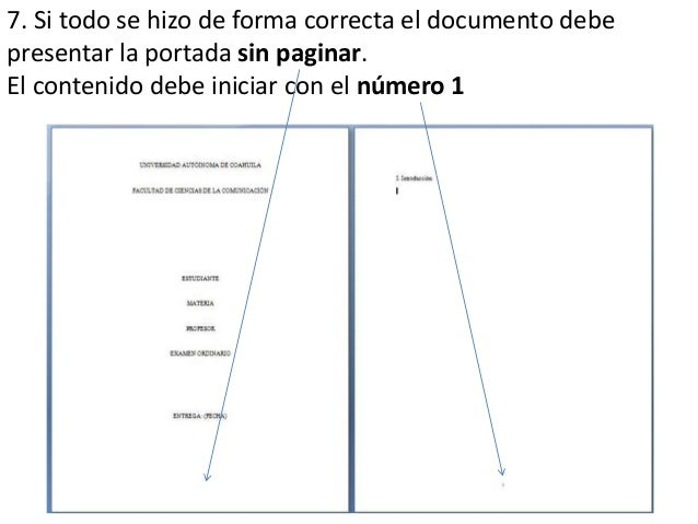 tutorial para paginar documentos con portada en word 2010