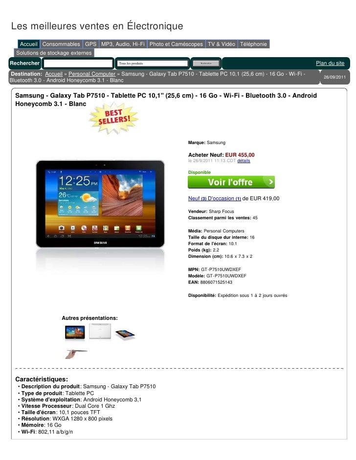 Les meilleures ventes en Électronique    Accueil Consommables GPS MP3, Audio, Hi-Fi Photo et Caméscopes TV & Vidéo Télépho...
