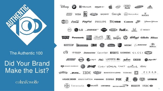 Did Your Brand Make the List? The Authentic 100 1