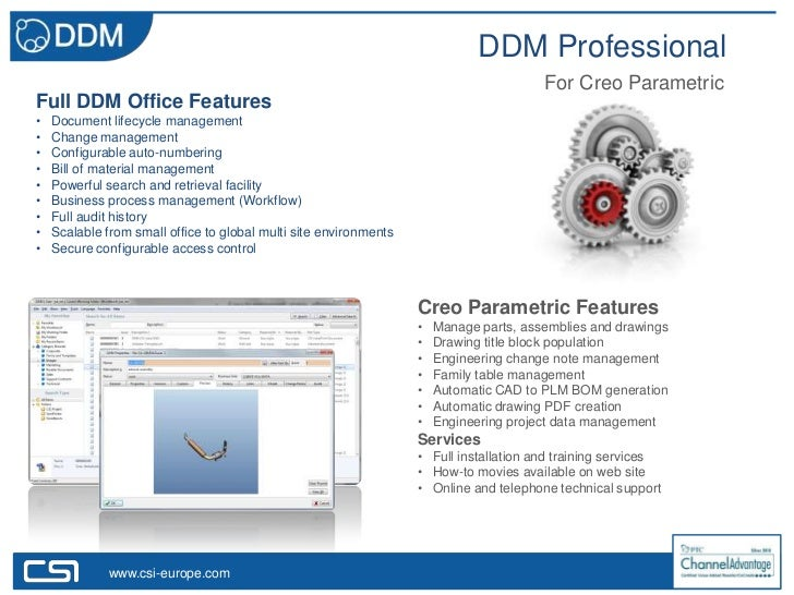 DDM Professional                                                                                        For Creo Parametri...
