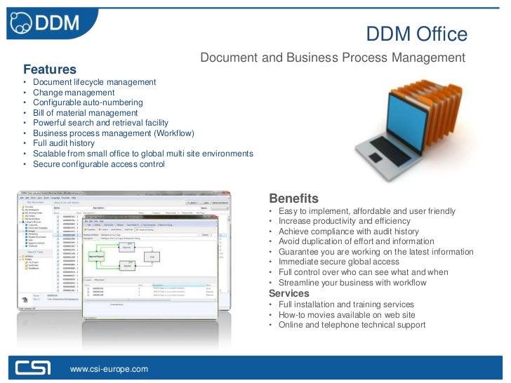 DDM Office                                                 Document and Business Process ManagementFeatures•   Document li...