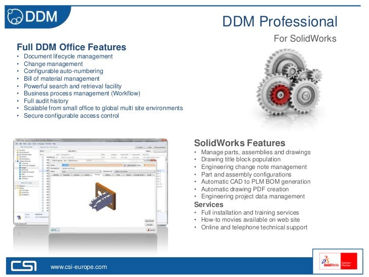 DDM Professional                                                                                               For SolidWo...