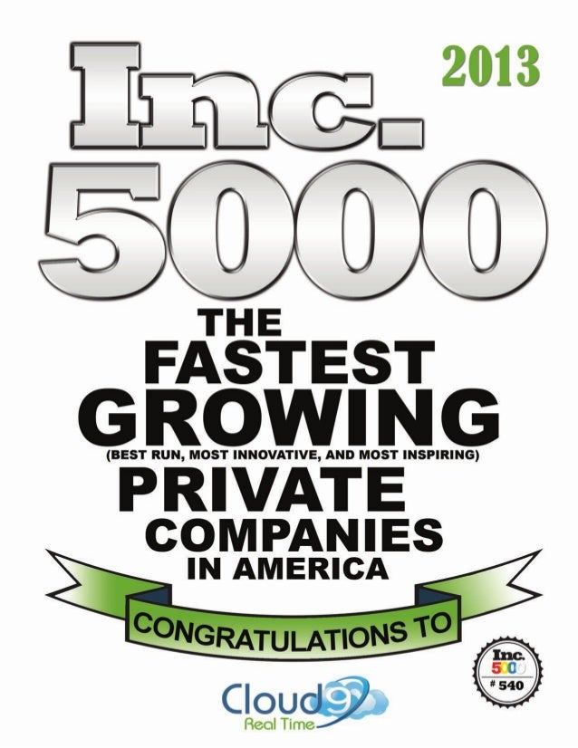 Cloud9 Joins Ranks of INC-500|500 in 2013