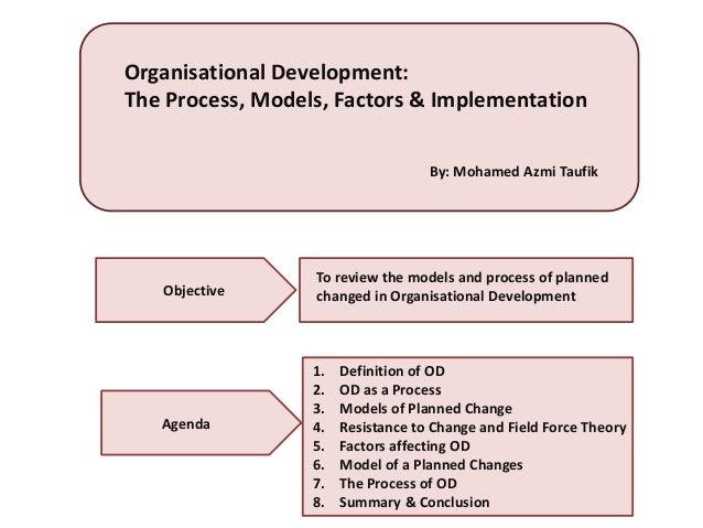 organisational development models and theories