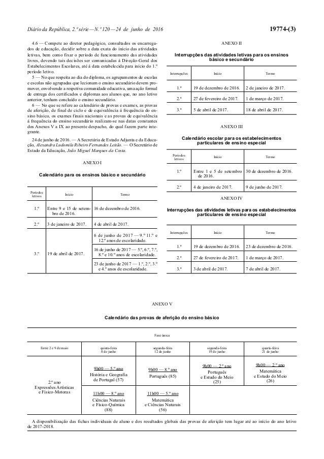 Diário da República, 2.ª série—N.º 120—24 de junho de 2016 19774-(3) 4.6 — Compete ao diretor pedagógico, consultados os e...