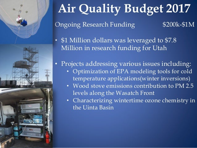 Ongoing Research Funding $200k-$1M • $1 Million dollars was leveraged to $7.8 Million in research funding for Utah • Proje...