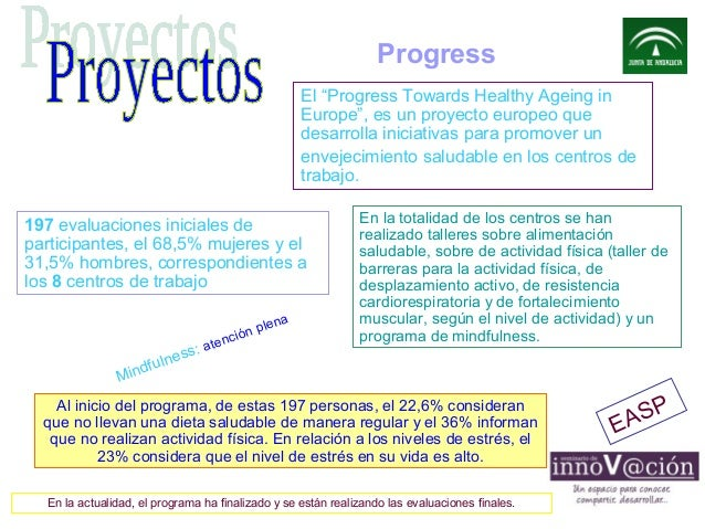 "Progress El ""Progress Towards Healthy Ageing in Europe"", es un proyecto europeo que desarrolla iniciativas para promover u..."