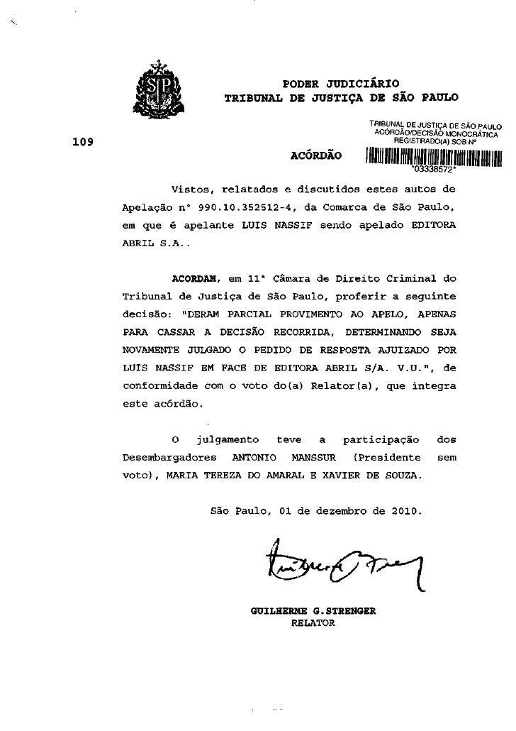 JiM*<         MBA                     PODER JUDICIÁRIO                         TRIBUNAL DE JUSTIÇA DE SÃO PAULO           ...