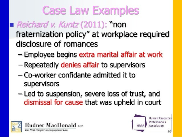 workplace romance and fraternization policies