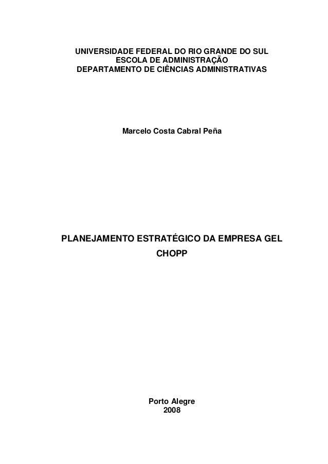 UNIVERSIDADE FEDERAL DO RIO GRANDE DO SUL ESCOLA DE ADMINISTRAÇÃO DEPARTAMENTO DE CIÊNCIAS ADMINISTRATIVAS Marcelo Costa C...