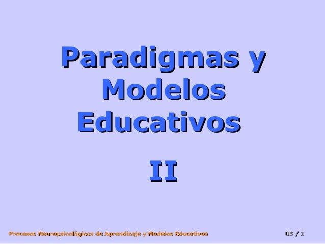 Procesos Neuropsicológicos de Aprendizaje y Modelos EducativosProcesos Neuropsicológicos de Aprendizaje y Modelos Educativ...