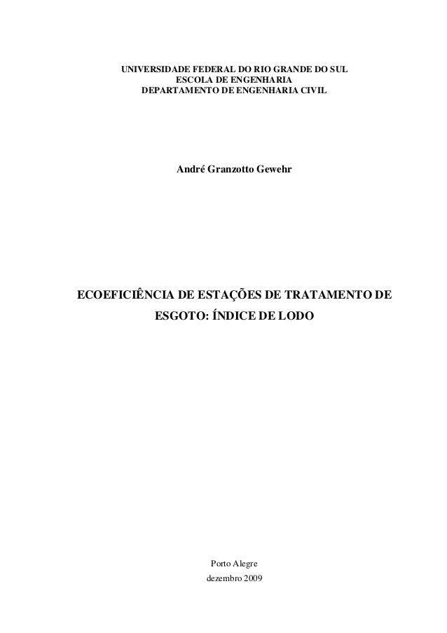 UNIVERSIDADE FEDERAL DO RIO GRANDE DO SUL               ESCOLA DE ENGENHARIA         DEPARTAMENTO DE ENGENHARIA CIVIL     ...