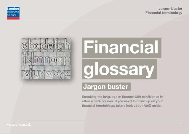 FINANCE GLOSSARY EBOOK