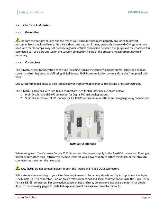 Hot Cathode Ionization Vacuum Gauge with Dual Convection IGM402 Module