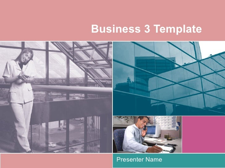 Business 3 Template Presenter Name