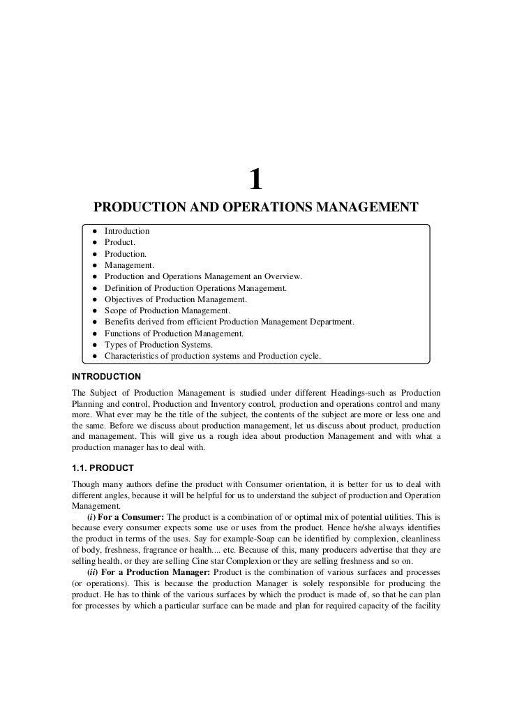 1      PRODUCTION AND OPERATIONS MANAGEMENT         Introduction         Product.         Production.         Management. ...