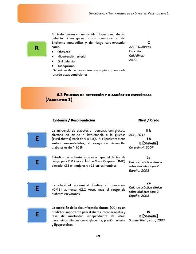 GUIA EVIDENCIAS Y RECOMENDACIONES DIABETES MELLITUS