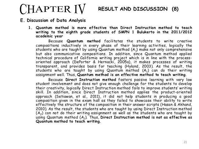 discussion chapter thesis Dissertation discussion section discussion in chapter 4 many consider the fifth & final chapter of the dissertation or thesis to be its most important.