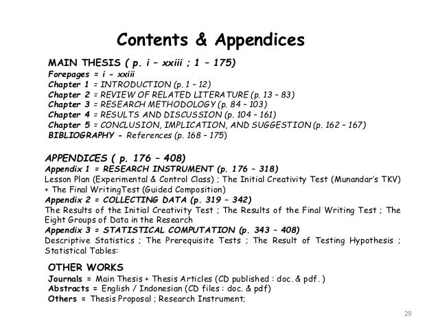 Can you put references into an appendix?