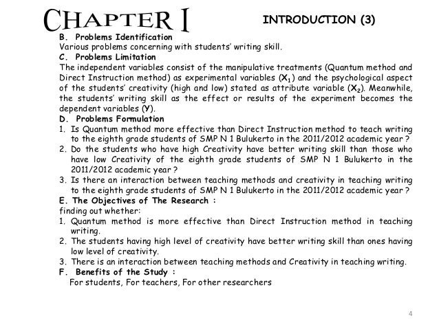 introduction chapter master thesis