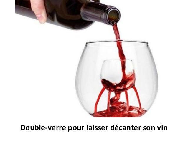 Double-verre pour laisser décanter son vin