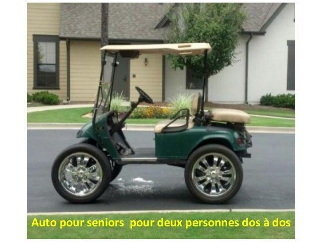 Auto pour seniors pour deux personnes dos à dos