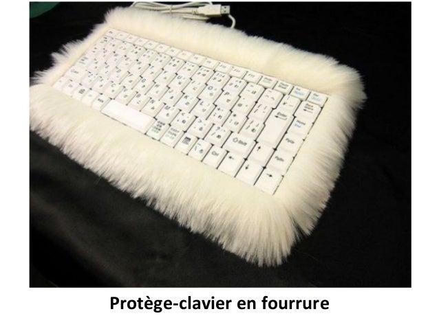 Protège-clavier en fourrure