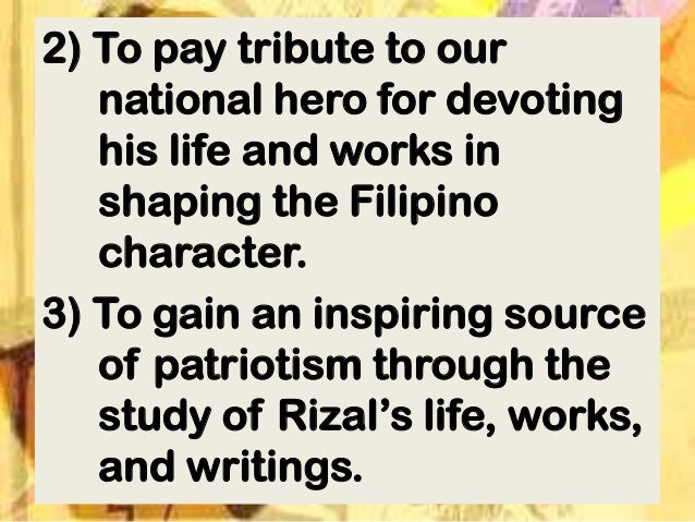 Rizal's Life Work's and Writings Essay