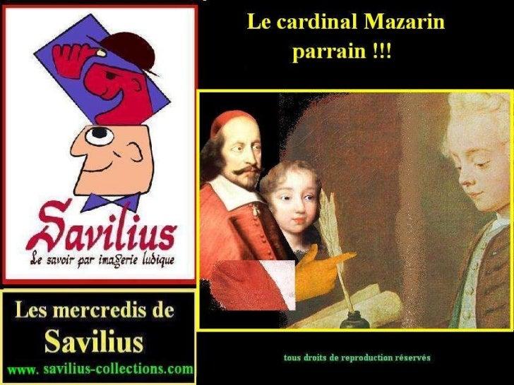 001 1-Mazarin  parrain de Louis XIV