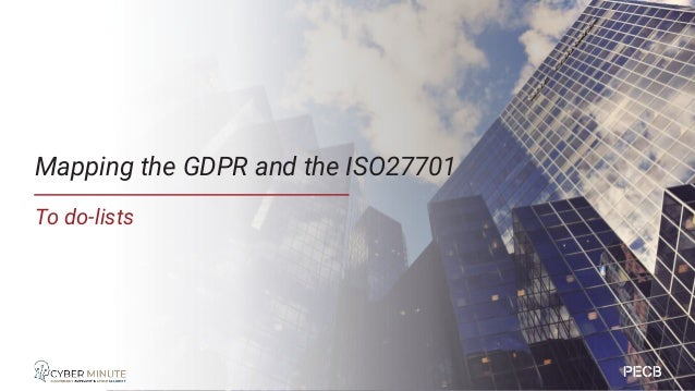 Sorting the mapping by GDPR Article to see ISO27701 The GDPR check list in ISO27701
