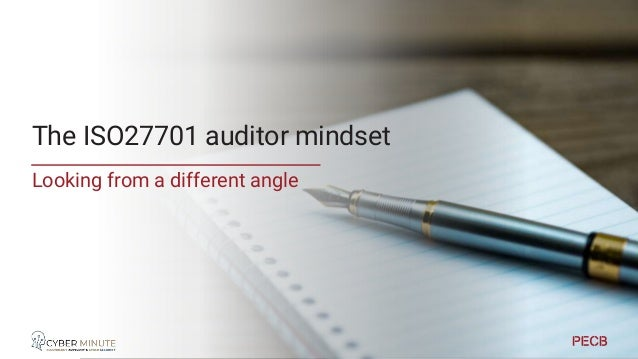 Auditor vs implementer • If you know how the audit works, you know better what to implement • Both In the right spirit • R...