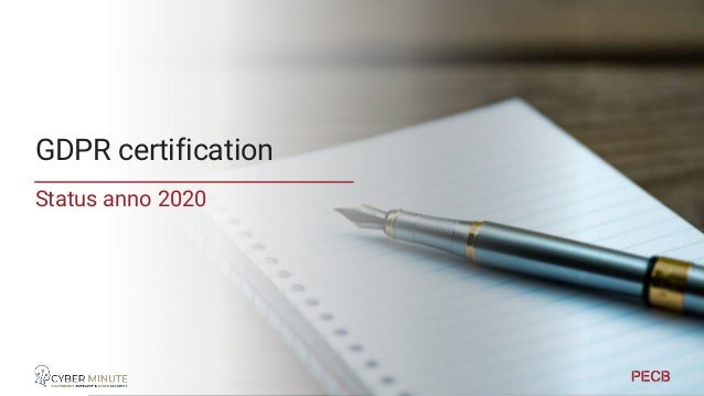 Context Certification Certification GDPR & NIS ISO27001 Cyber Act