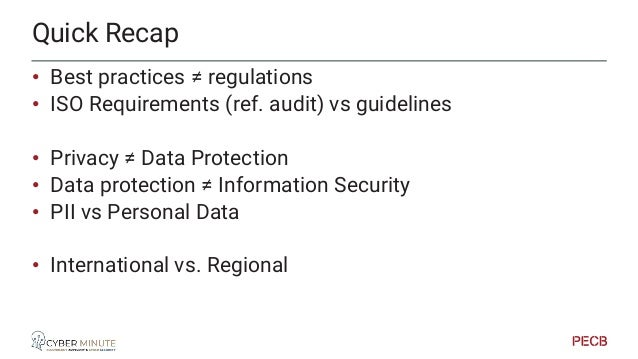 The GDPR view of the ISO/IEC 27701 Annex D: Mapping to GDPR