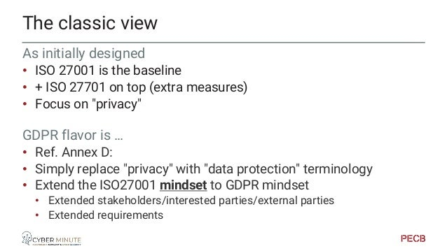Annex D The GDPR mapping in ISO27701