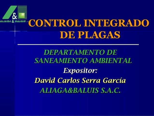 Control integrado de plagas for Control de plagas tenerife