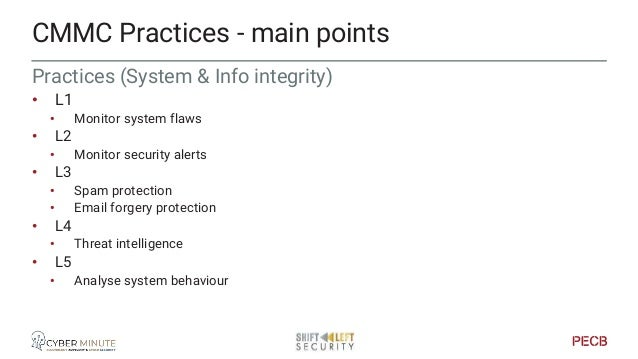 Maturity indicators for management Driving the cyber & info security