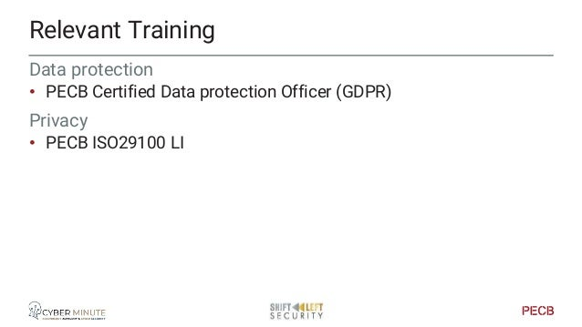 Other Relevant Training Incident Management • PECB ISO 27035 LI Risk Management • PECB ISO 27005 LI