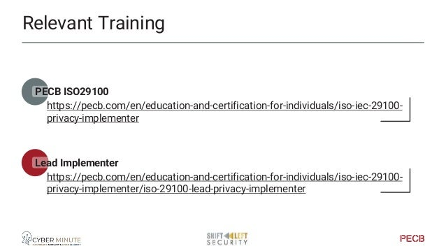 Relevant Training PECB ISO27035 - Incident Management https://pecb.com/en/education-and-certification-for-individuals/iso-...