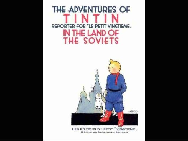 "THE ADVENTURES on T I N T I N  QEDOQTED FOQ ""LE DETIT VINGTIEME.   IN THE LAND OF THE SOVIETS  LES EDITIONS DU PETIT VINGT..."