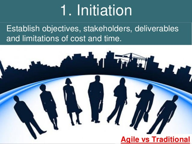 1 initiation establish objectives stakeholders for Agile vs traditional project management