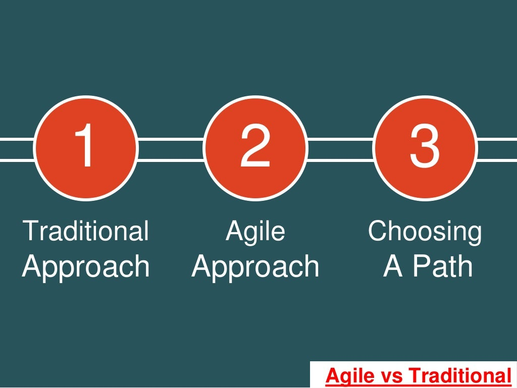 Traditional agile choosing approach approach for Agile project management vs traditional project management