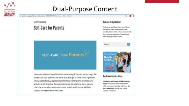 Dual-Purpose Content