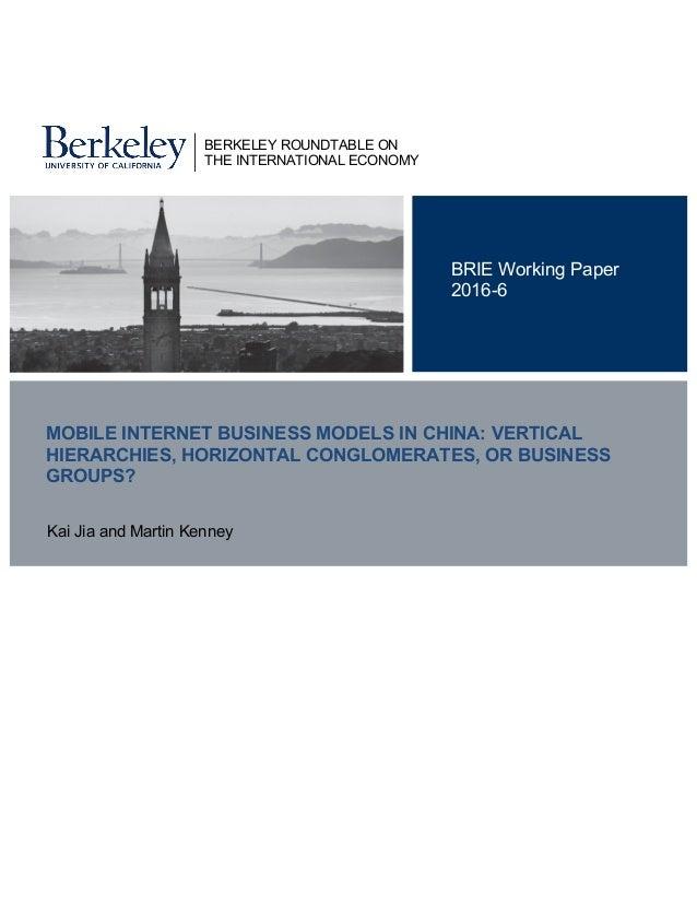 Internet business models essay